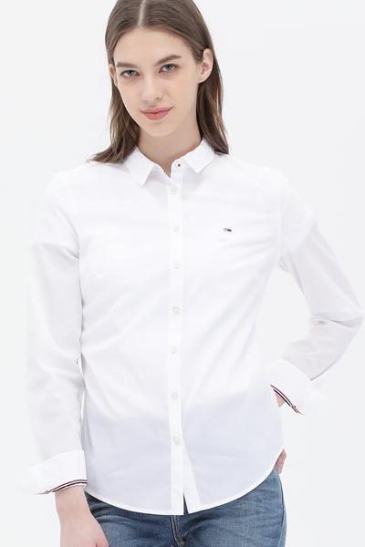 면혼방 솔리드 긴소매 셔츠