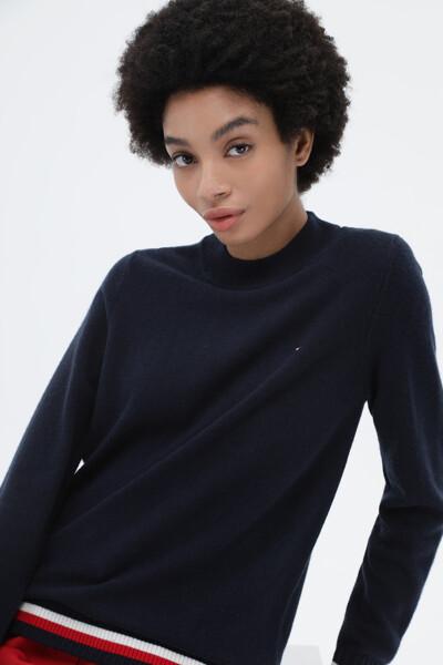 캐시미어혼방 베이직 목넥 스웨터