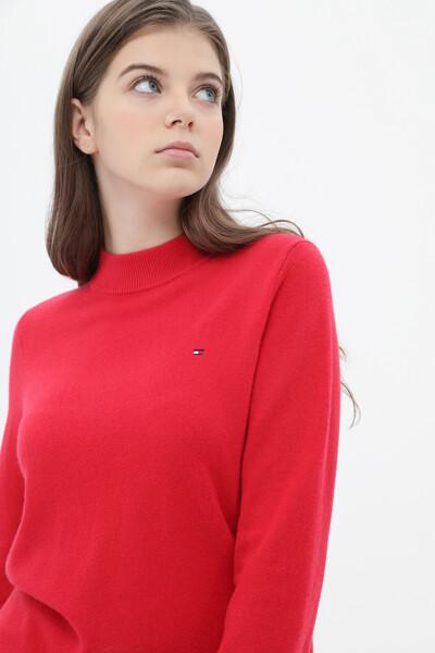 캐시미어혼방 플래그 목넥 스웨터