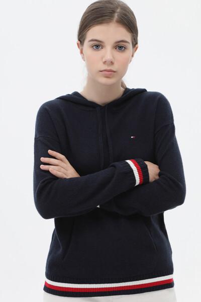 캐시미어혼방 아이코닉 후드 스웨터