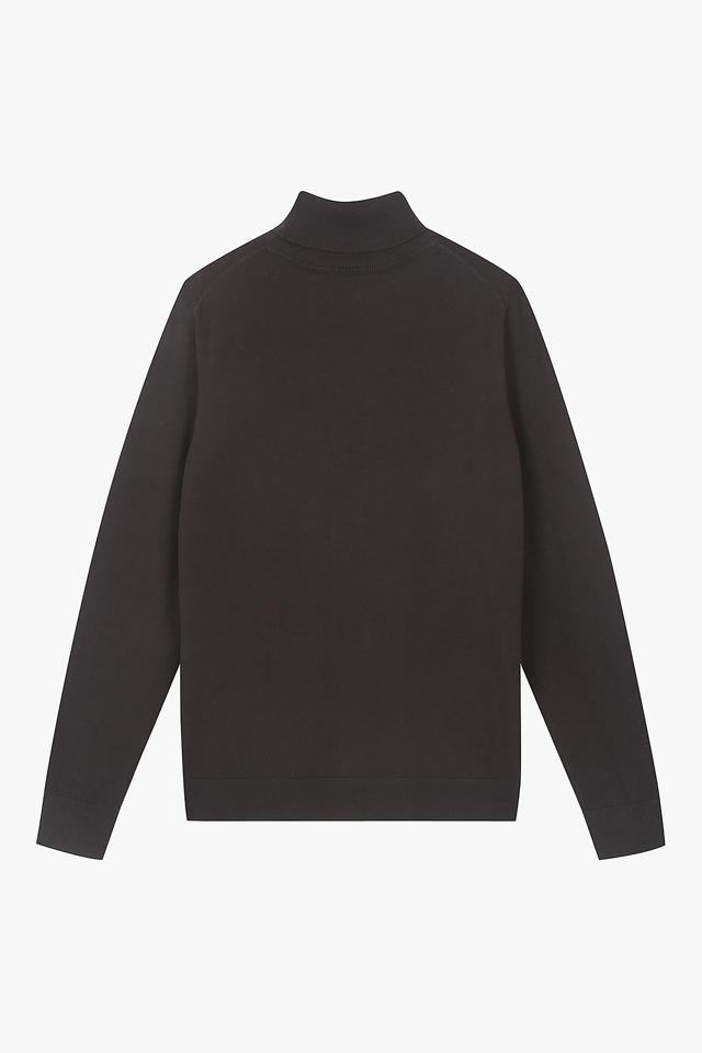 플래그 터틀넥 스웨터