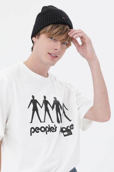 코튼 PP로고 반소매 티셔츠