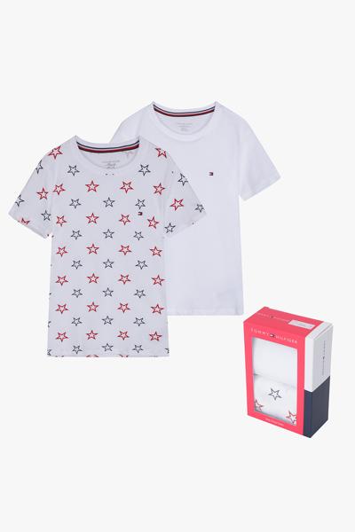 코튼 솔리드 별무늬 반소매 티셔츠 2P