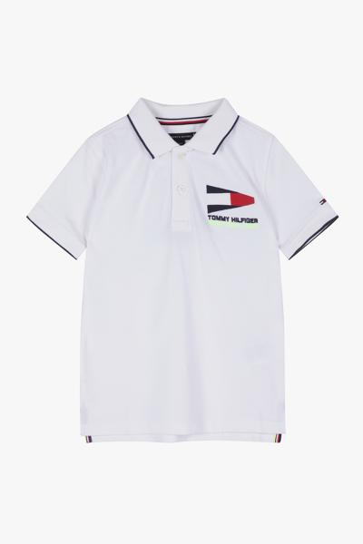 코튼 엠브로이드 로고 반소매 폴로 티셔츠