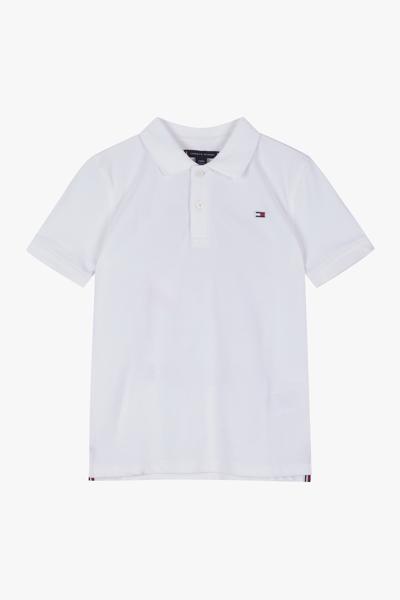 코튼 아플리케 반소매 폴로 티셔츠