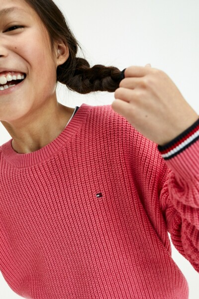 면 혼방 오버핏 레터링 스웨터