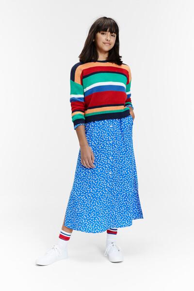 면 혼방 오버핏 스트라이프 스웨터