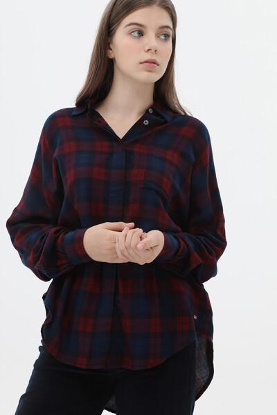 릴렉스핏 타탄체크 셔츠