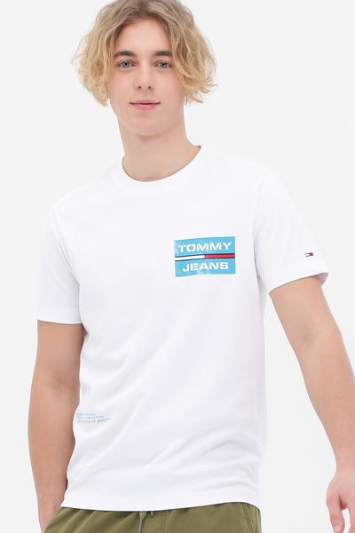 코튼 로고 박스 반소매 티셔츠