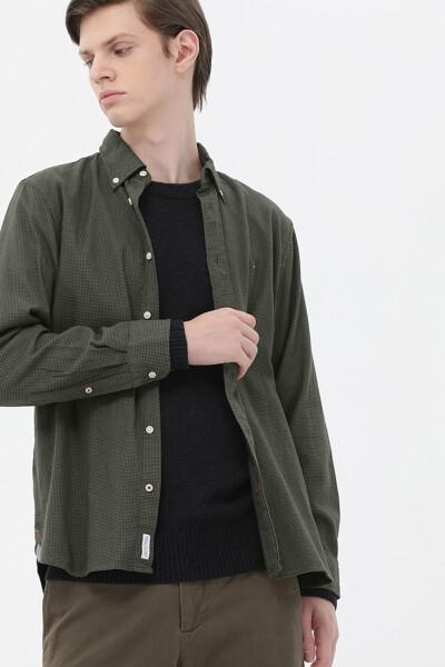 코튼 레귤러핏 하운드투스 셔츠