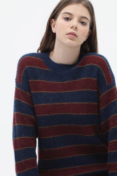 스트라이프 크루넥 스웨터