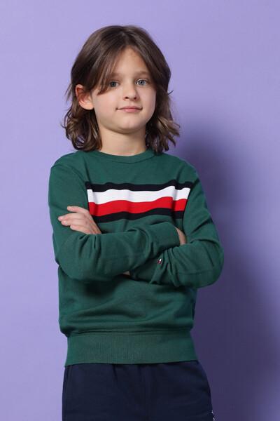 코튼 레귤러핏 시그니처 스웨터