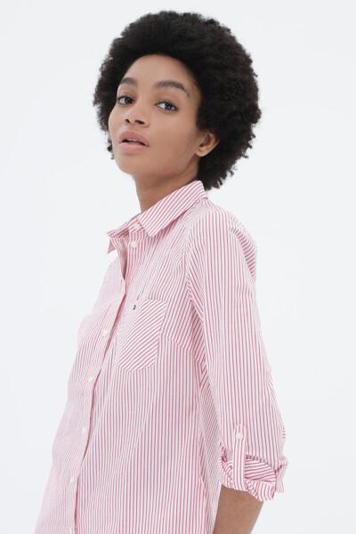 코튼 레귤러핏 스트라이프 셔츠