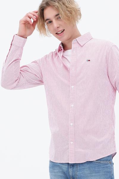시어서커 스트라이프 긴소매 셔츠
