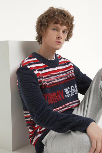 스트럭처 믹스 크루넥 스웨터