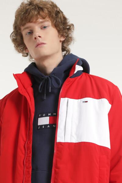 에센셜 컬러블록 패드 자켓