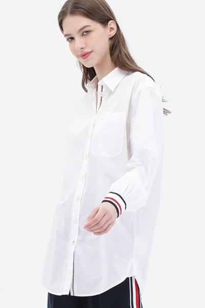 코튼 보이프렌드핏 아이코닉 셔츠