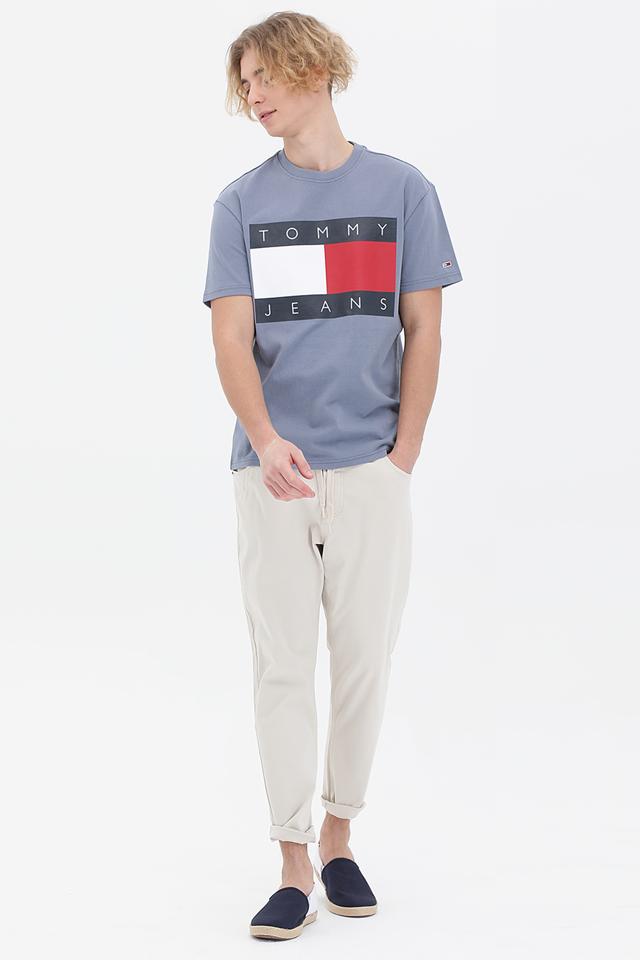코튼 오버핏 플래그 그래픽 티셔츠