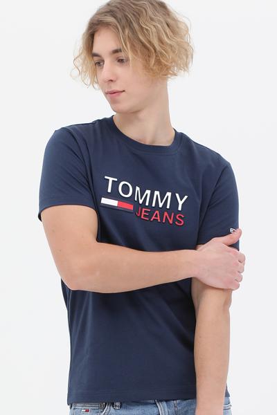 코튼 엠보싱 로고 반소매 티셔츠