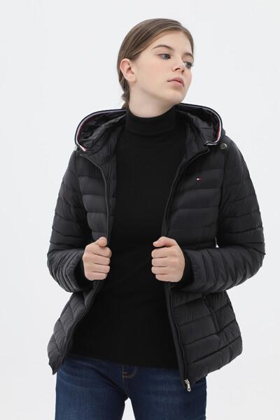 오리털 스탠다드핏 베이직 후드 자켓