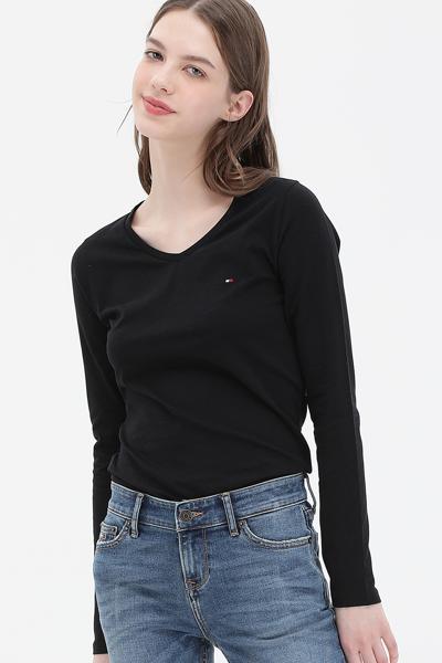슬림핏 브이넥 티셔츠