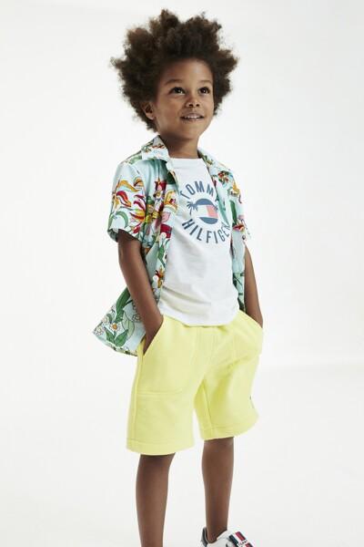 코튼 박시핏 플로럴 하와이안 셔츠