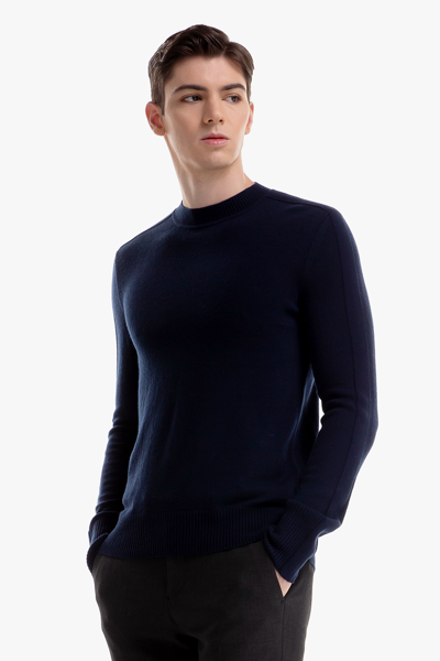 [남성] 울혼방 베이직 크루넥 스웨터
