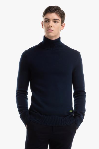 [남성] 메리노울 베이직 하이넥 스웨터