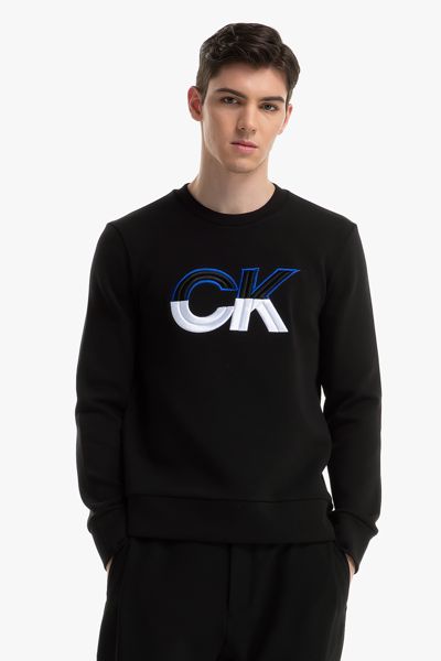 [남성] 면혼방 로고 긴소매 티셔츠