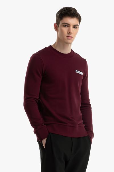 [남성] 코튼 로고 긴소매 티셔츠