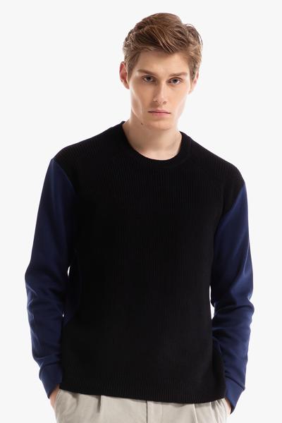 [남성] 면혼방 멀티 패브릭 긴소매 티셔츠