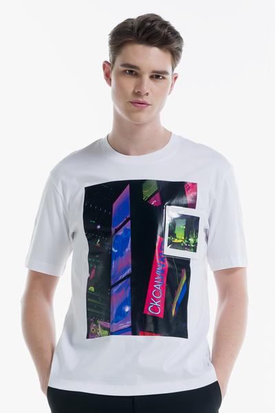 [남성] 코튼 포토프린팅 반소매 티셔츠