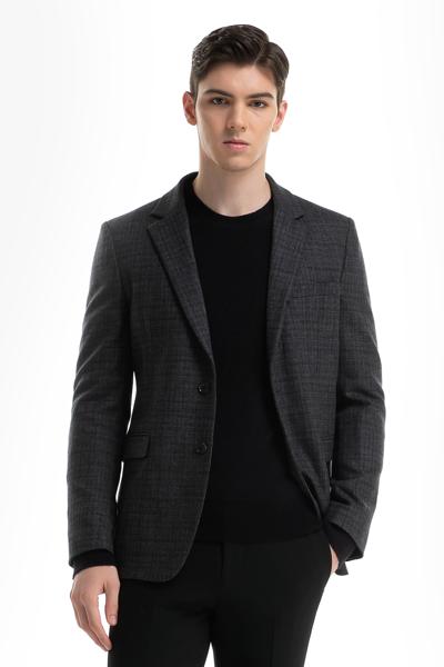 [남성] 울혼방 베이직 체크 자켓