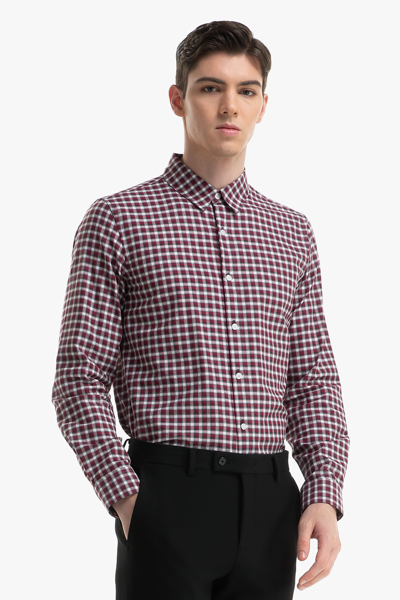 [남성] 코튼 깅엄 체크 긴소매 셔츠