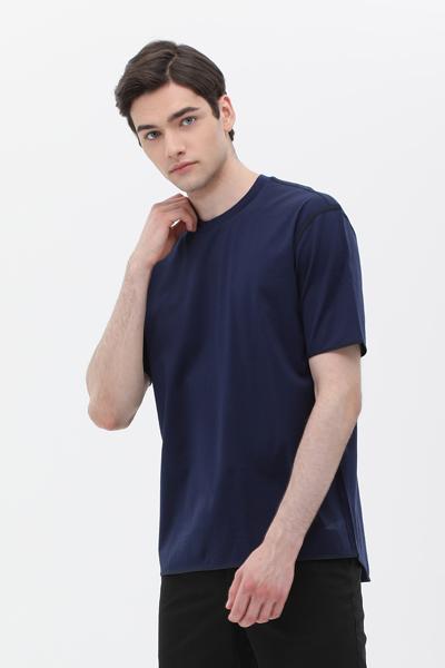 코튼 라운드넥 반소매 티셔츠