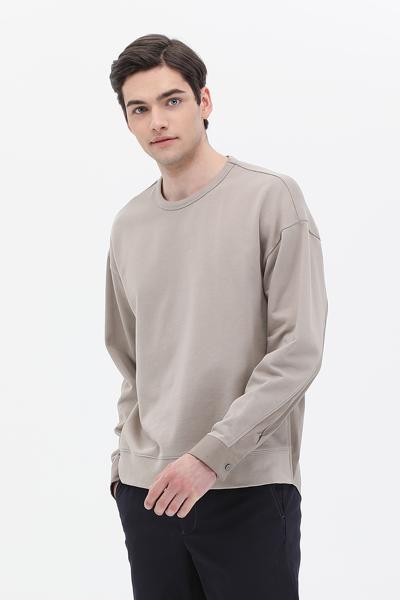[남성] 면 우븐 믹스 긴소매 티셔츠