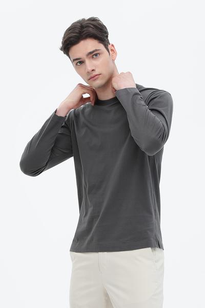[남성] 면 크루넥 긴소매 티셔츠