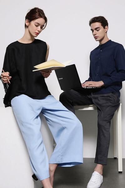 [남성] 베이직 차이나카라 셔츠