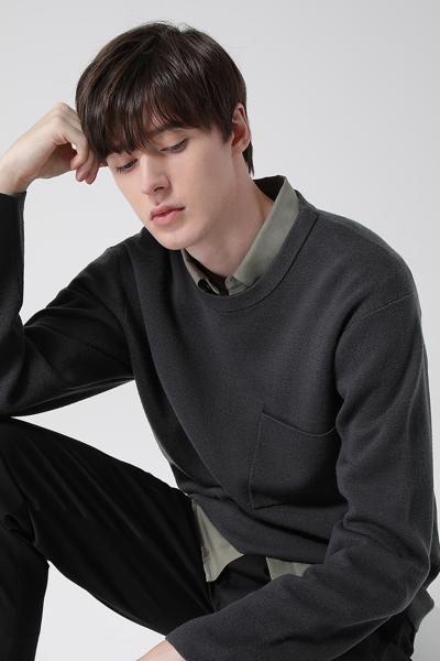 [남성] 울 밀라노 크루넥 스웨터