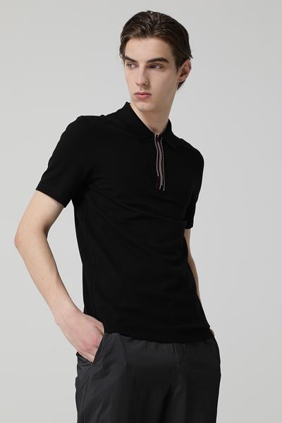 [남성] 면 혼방 레귤러핏 엠브로이드 폴로 셔츠