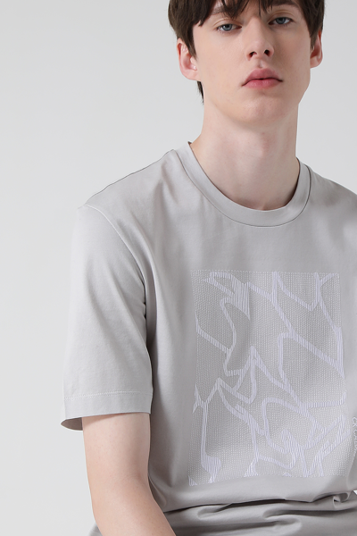 [남성] 코튼 엠브로이드 그래픽 로고 반소매 티셔츠