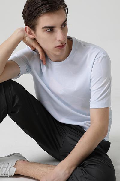 [남성] 코튼 레귤러핏 그래픽 기본 티셔츠