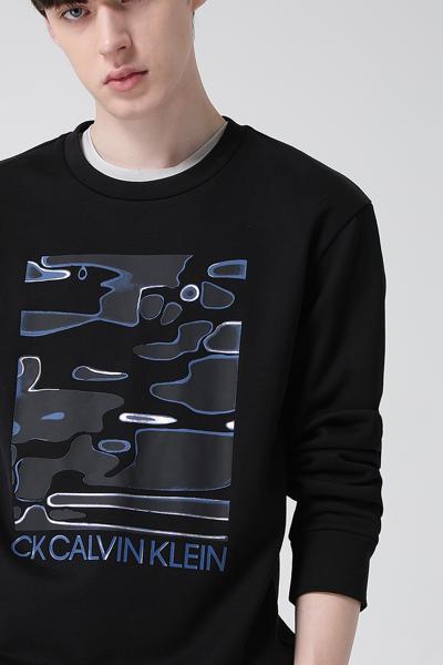 [남성] 홀로그래픽 라운드넥 맨투맨 티셔츠