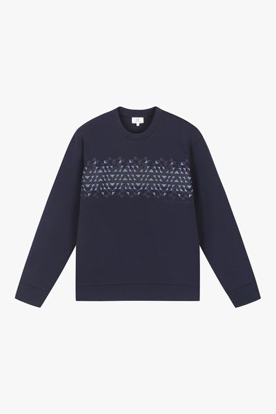 [남성] 면혼방 그래픽 크루넥 맨투맨 티셔츠