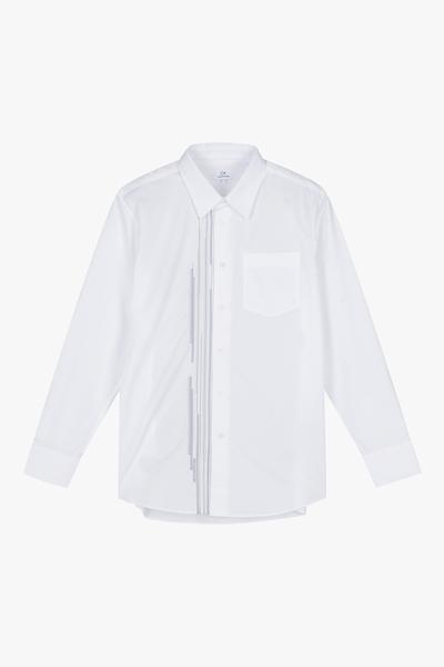 [남성] 코튼 오버핏 크로스 스티치 셔츠
