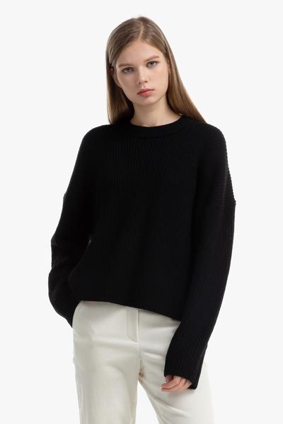 [여성] 울 케이블 크루넥 스웨터