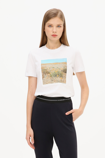 [여성] 코튼 프린팅 반소매 티셔츠