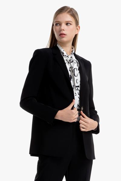 [여성] 아세테이트혼방 베이직 레귤러 블레이저 자켓