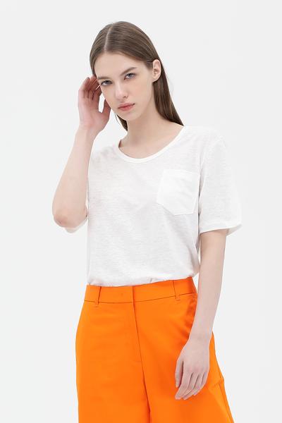 린넨혼방 루즈핏 반소매 티셔츠