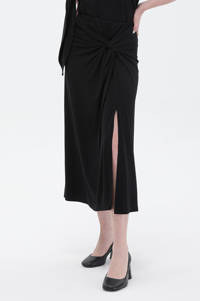 [여성] H라인 매듭 롱 스커트